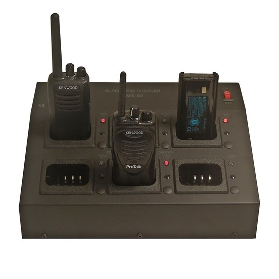 6-Paikkainen pikalatauslaite Kenwood TK-3301, TK-3401D, TK-3501E