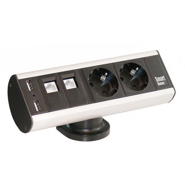 Smartline 935-D2DU Desk, 2xCEE 7/4, 2xRJ45 ho, 2xUSB Tyyppi A na
