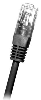 CAT6 UTP RJ45 Ethernet-kaapeli 0.5m Musta