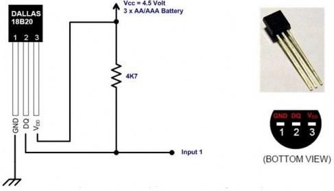 Dallas DS18B20 temperature sensor Chip  -55C...+125C