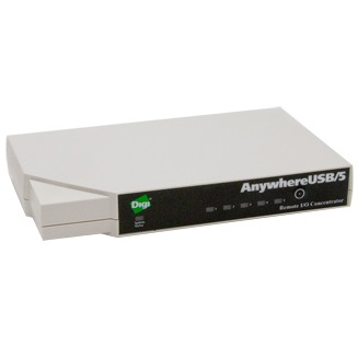 Digi AW-USB-5M-W AnywhereUSB/5 USB over IP Gen 2 Multihost Connections