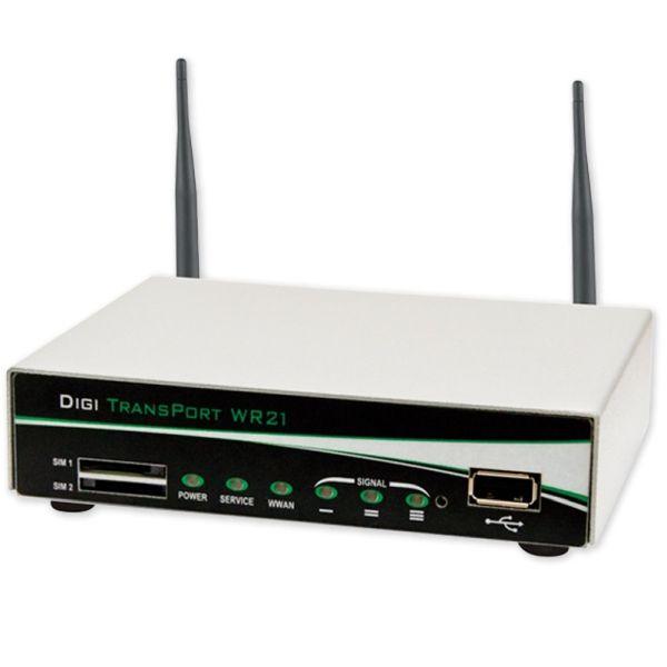 Digi WR21-U81B-DE1-SW TransPort WR21 HSPA+ router 1x10/100, RS-232, 900/2100MHz