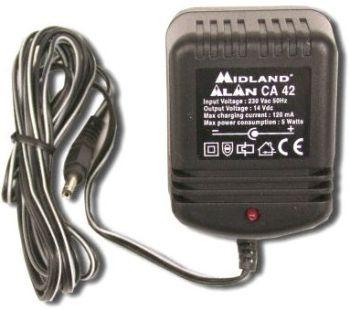 Midland Alan CA-42 Multi käsi LA-puhelimen laturi 230V POISTOTUOTE