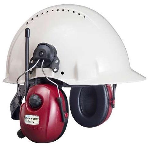 Peltor HRXS7P3E-01 FM Stereoradio kypäräkiinikkeillä