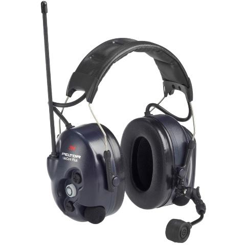 Peltor LiteCom Plus MT7H7A4410-EU, PMR446 Päälakisangalla