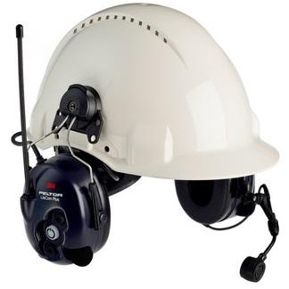 Peltor LiteCom Plus MT7H7P3E4410-EU, PMR446 Kypäräkiinnitteinen