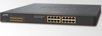 Planet FNSW-1600P 16x10/100 (16x PoE) Switch 125W