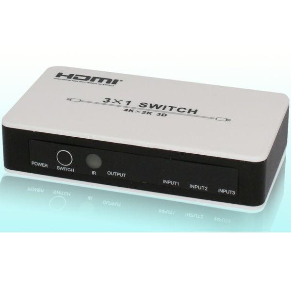 Playvision HDS-931P HDMI 1.4 kytkin, 3x1, IR, PIP, 4k