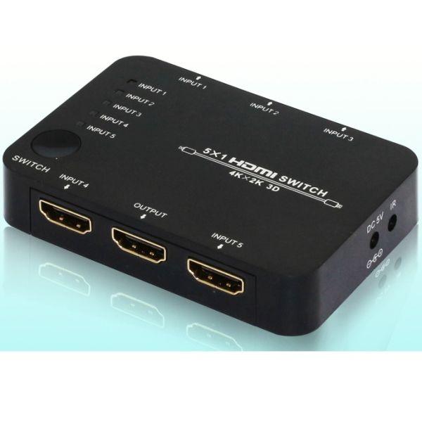 Playvision HDS-951 HDMI 1.4 kytkin 5x1, IR, 4k