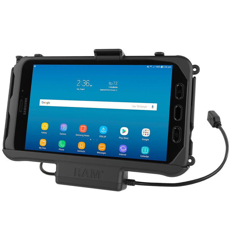 RAM Mounts RAM-HOL-SAM60PDU Pidike Samsung Tab Active 2 & 3 virransyötöllä+ data