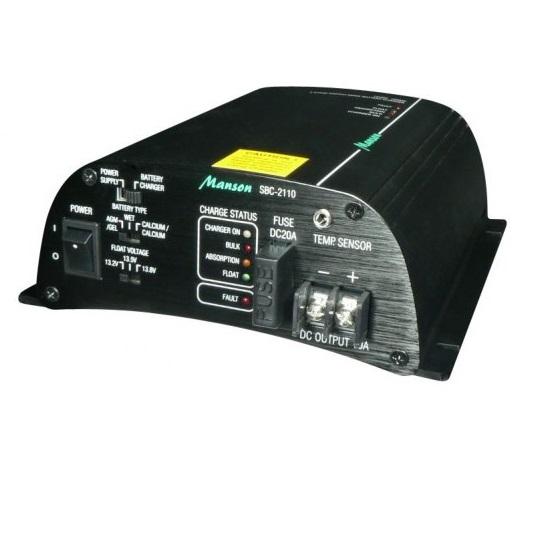 Manson SBC-2110 3-vaihe automaattilaturi 12V/10A, 40-100Ah